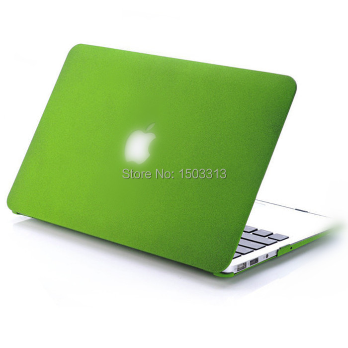 "Christmas gift Green New PC Quicksand Matte Cut-out Case Shell For Macbook Air 11""/13"" Pro 13""/15"" inch with Logo(China (Mainland))"