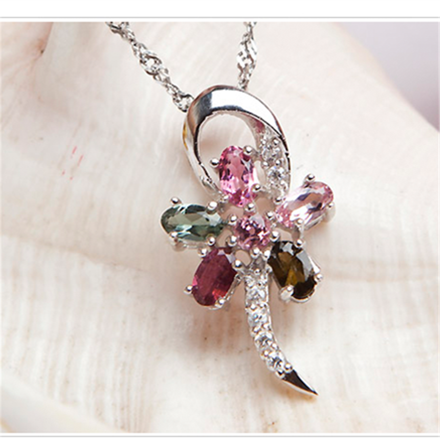 Free Shipping CPAM Summer Style Women Pendants Bead Tourmaline Gems Natural Stone Dragonfly Silver Crystal Pendant For Necklace<br><br>Aliexpress