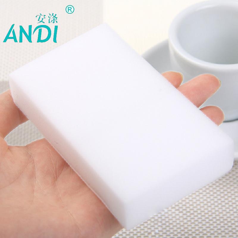 100 pcs/lot high quality ANDI melamine sponge Magic Sponge Eraser Melamine Cleaner for Kitchen Office Bathroom Cleaning 10x6x2cm(China (Mainland))