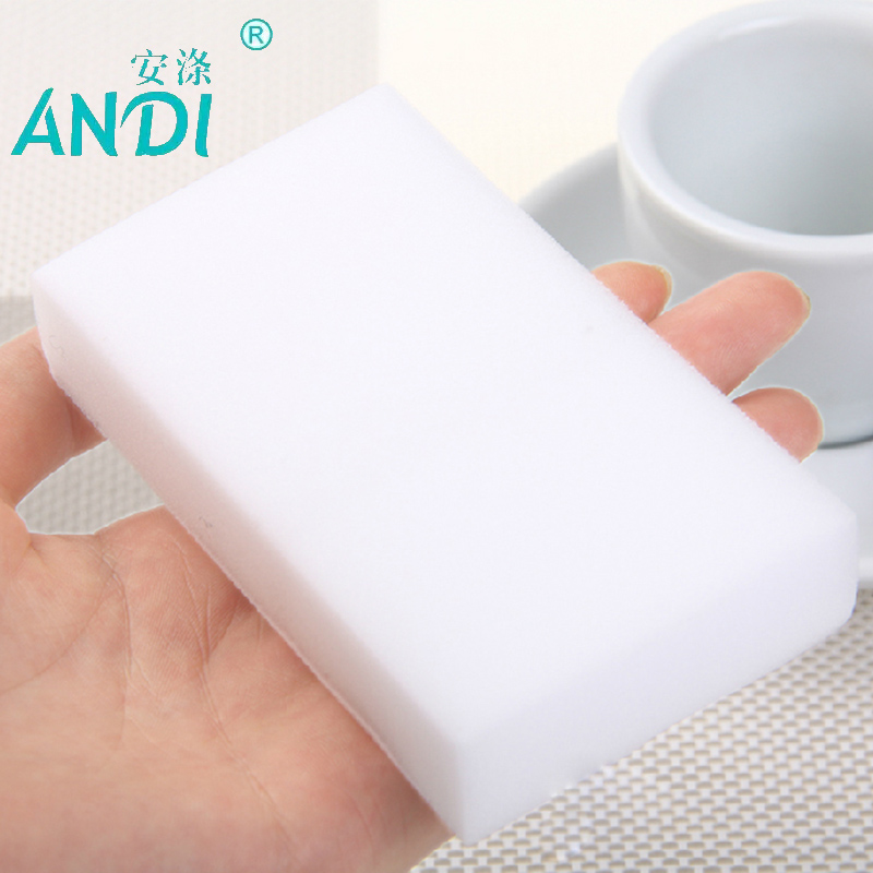 100 pcs/lot high quality ANDI melamine sponge Magic Sponge Eraser Melamine Cleaner for Kitchen Office Bathroom Cleaning 10x6x2cm(China (Mainland))