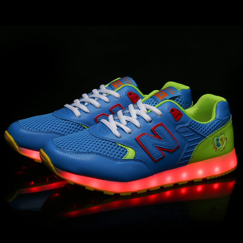 7 colors light up sneaker luminous usb charge colorful led sneakers shoes mens light up sneakers. Black Bedroom Furniture Sets. Home Design Ideas