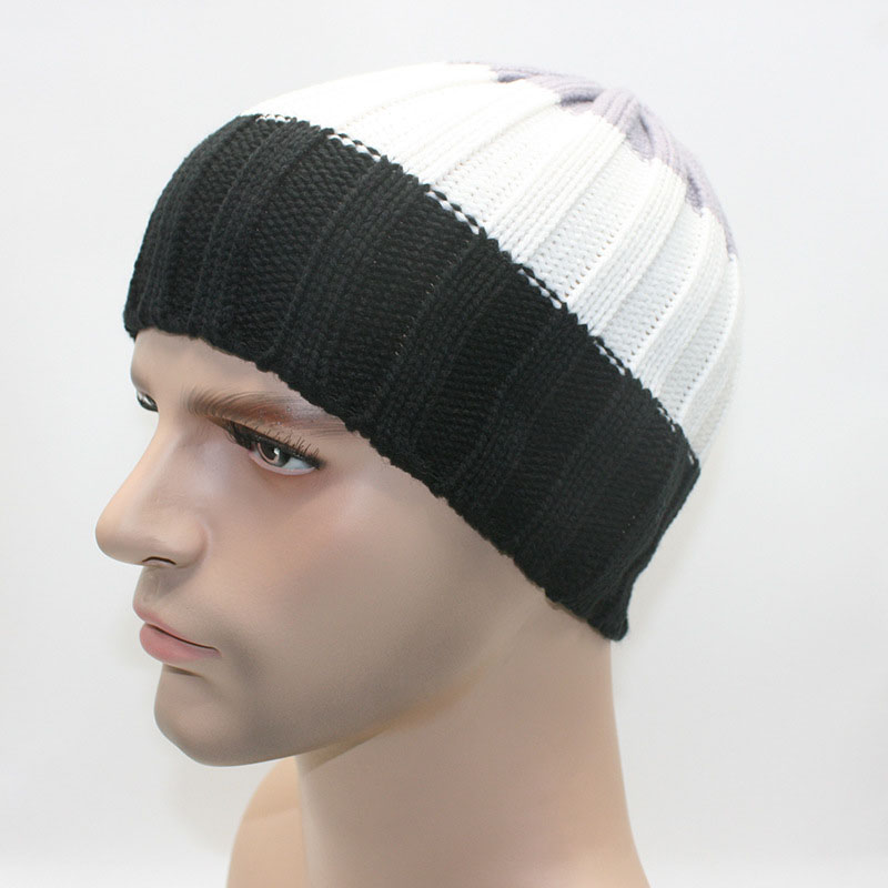 Winter Beanie Hats for Men Warm Ski Caps Elastic Skullies Gorros 10 Colors for Choice Z-2021()