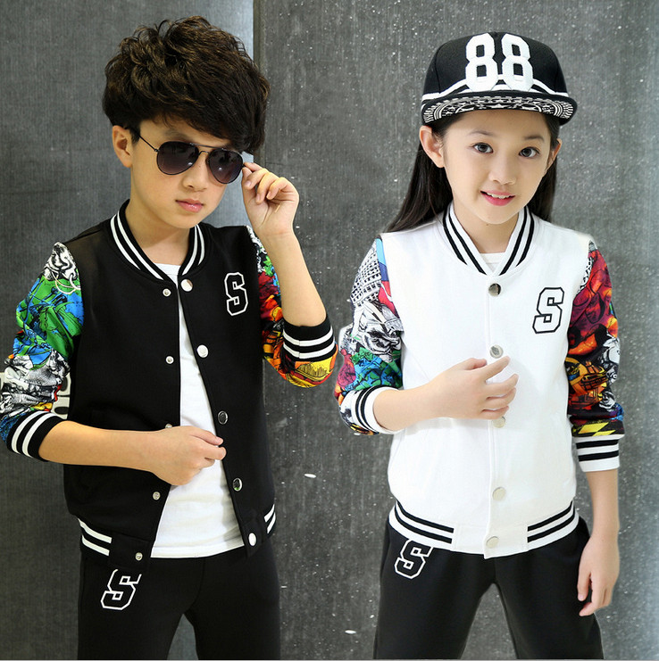 2015 Autumn Winter Kids Clothing Sets Korean Style Boys & Girls Sports Suit Fashion Casual Baseball Clothes Conjunto Menina - Baby Honey store