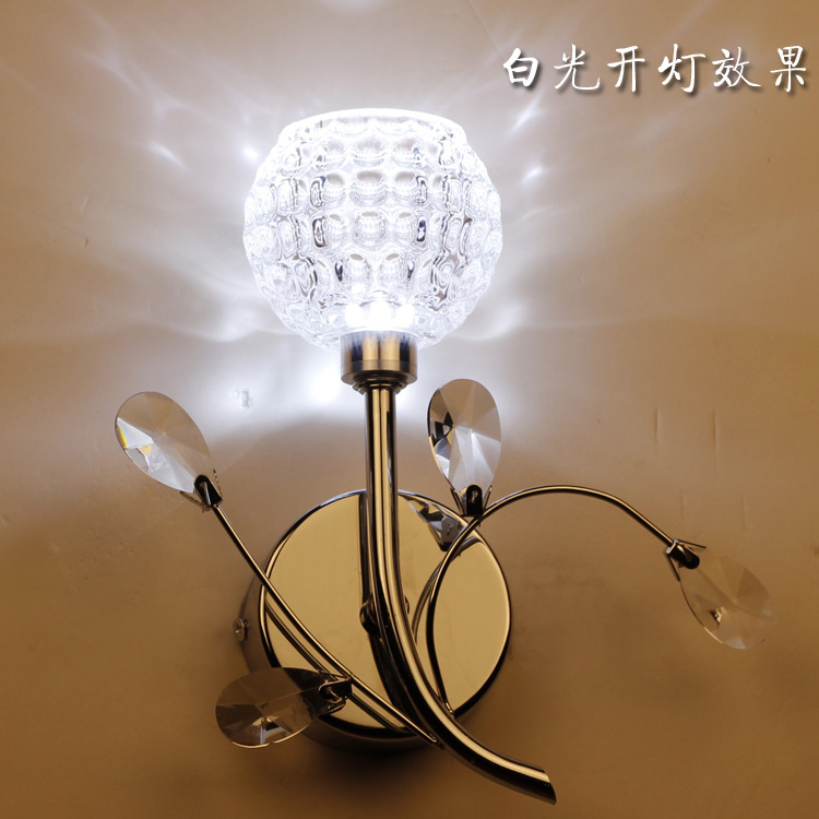 Free shipping wall lamp led with switch stair wall lights crystal bedside lamp-inWall Lamps from ...