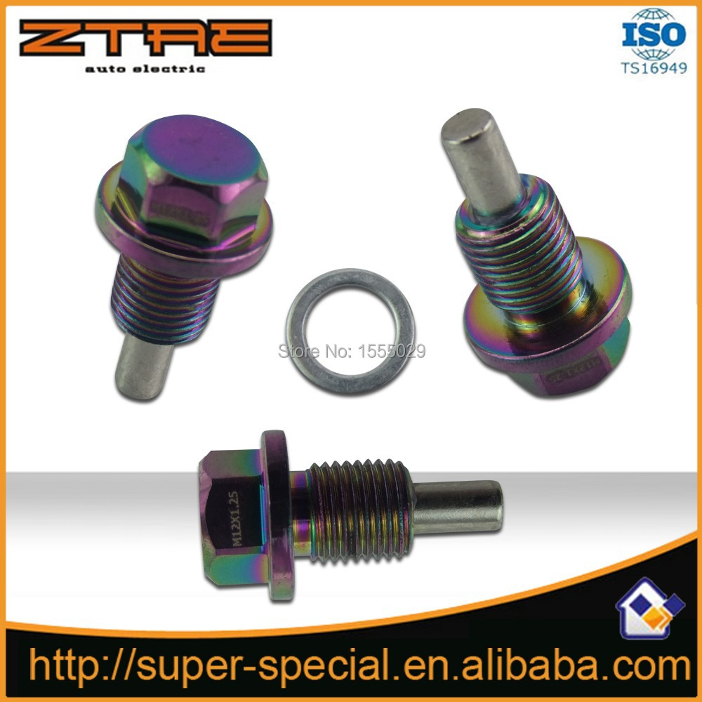 NEO CHROME M12X1.25 Engine Magnetic Oil Drain Plug Bolt Nut(China (Mainland))