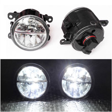 Car Styling 6000K White 10W CCC High Power LED Fog Lamps DRL Lights For Mitsubishi L200 OUTLANDER 2  PAJERO 4  GALANT  Grandis(China (Mainland))