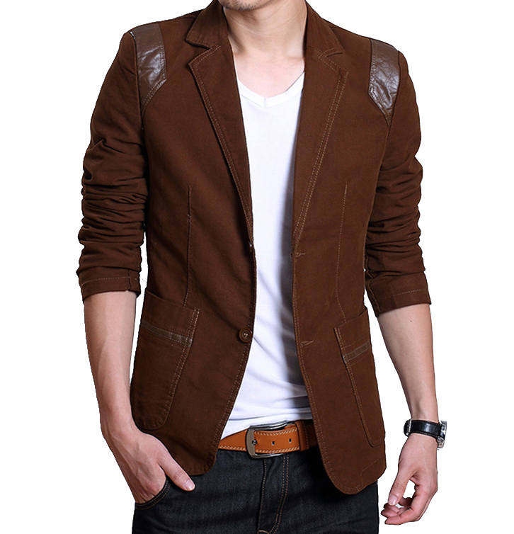 High Quality Mens Brown Blazer Jacket-Buy Cheap Mens Brown Blazer ...