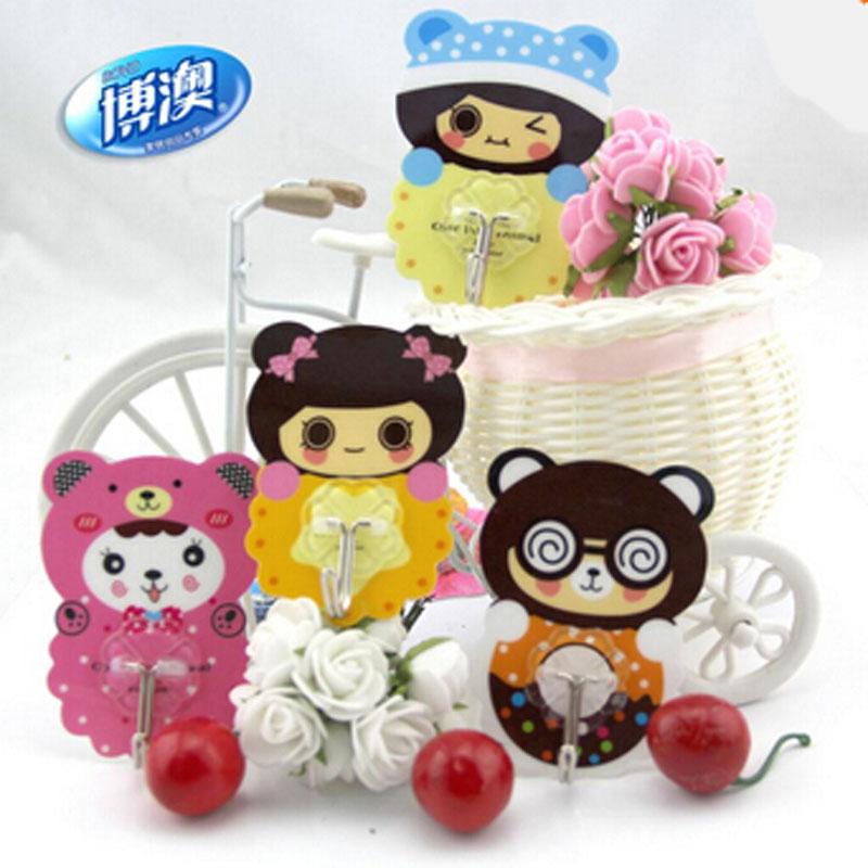 Seamless cartoon magic creative magic hook hook strong adhesive hook Seamless cute(China (Mainland))