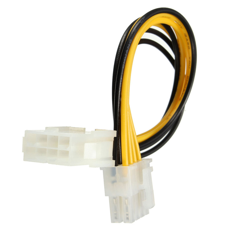 New Arrival 18cm 8 Pin to 8 Pin ATX EPS Male to Female Power Extension PSU Mainboard Power Extension Adapter Cable(China (Mainland))