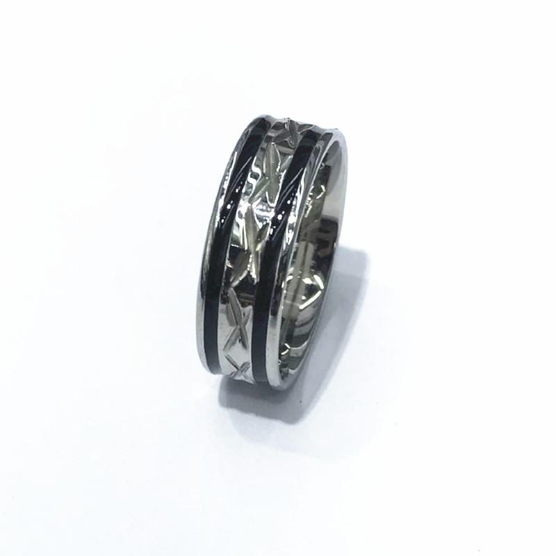 Black Men Ring 100% Titanium Carbide Men's Jewelry Wedding Bands Classic Boyfriend Gift