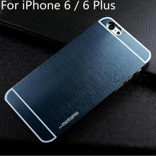 Brushed Aluminum Phone Cases For iPhone 6 4.7 6 Plus 5.5 Metal Hard Back Cell Phones case 6 Plus Mobile Phone Cases Bag Cover