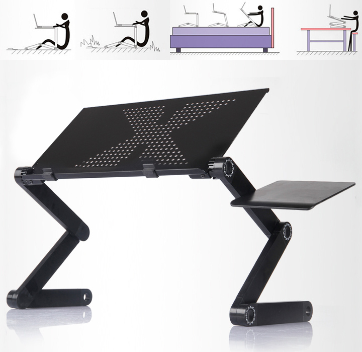 360 Adjustable Portable Adjustable Foldable Laptop Notebook PC Desk Table Vented Stand Bed Tray Free Shipping B16 OS000225(China (Mainland))