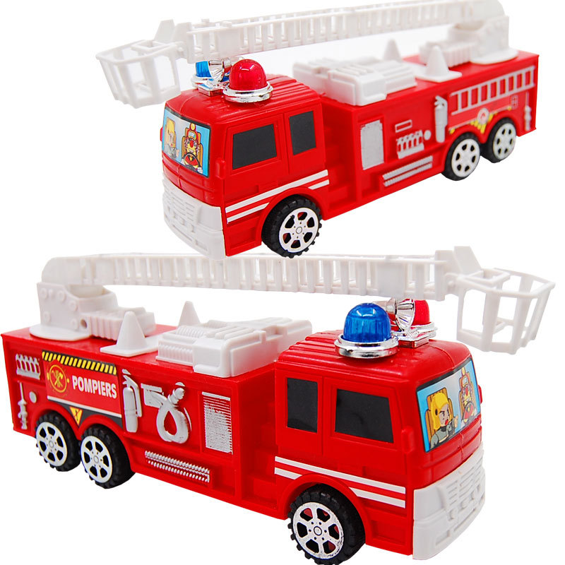 Baby toys diecasts and toy vehicle Children Q vertion mini fire engine car boy toys inertia plastic model truck kids toys gifts(China (Mainland))