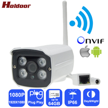 Buy IPC Wireless IP Camera wi-fi Full HD 1080P Webcam CCTV Security Cam Micro SD Card Slot Metal House IP66 Outdoor Waterproof for $39.19 in AliExpress store