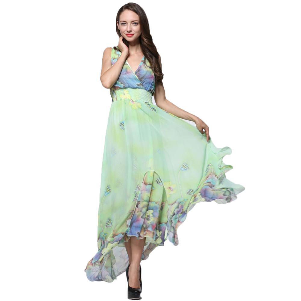 chiffon maxi dress elegant
