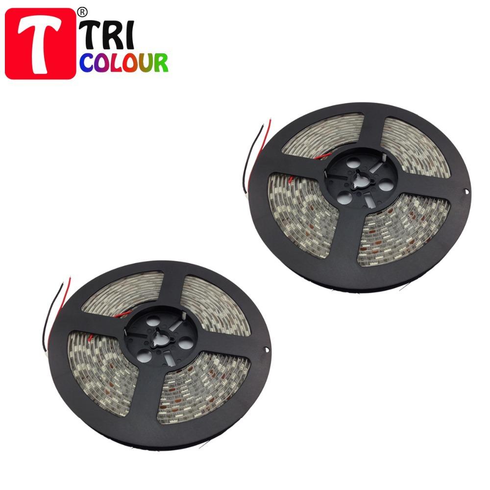 TRICOLOUR 60leds/m SMD 5050 led strip light bar 5m/roll best quality Waterproof Decoration Lights volume 100M/lot 20rolls #L046(China (Mainland))
