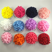 Buy 400Pcs 10mm Round Pink Red White Blue Purple Yellow Black Plush Ball DIY Crafts Pom Poms Wedding Garment Decoration Accessories for $1.31 in AliExpress store