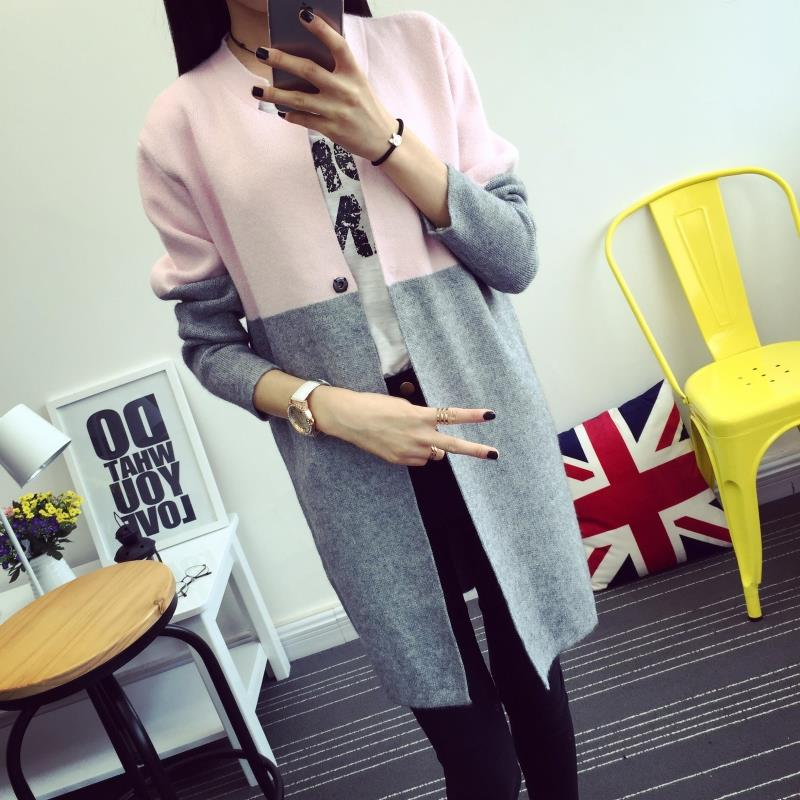 2015 new autumn autumn female Korean women jacket sweater coat color in female long sweater cardiganОдежда и ак�е��уары<br><br><br>Aliexpress