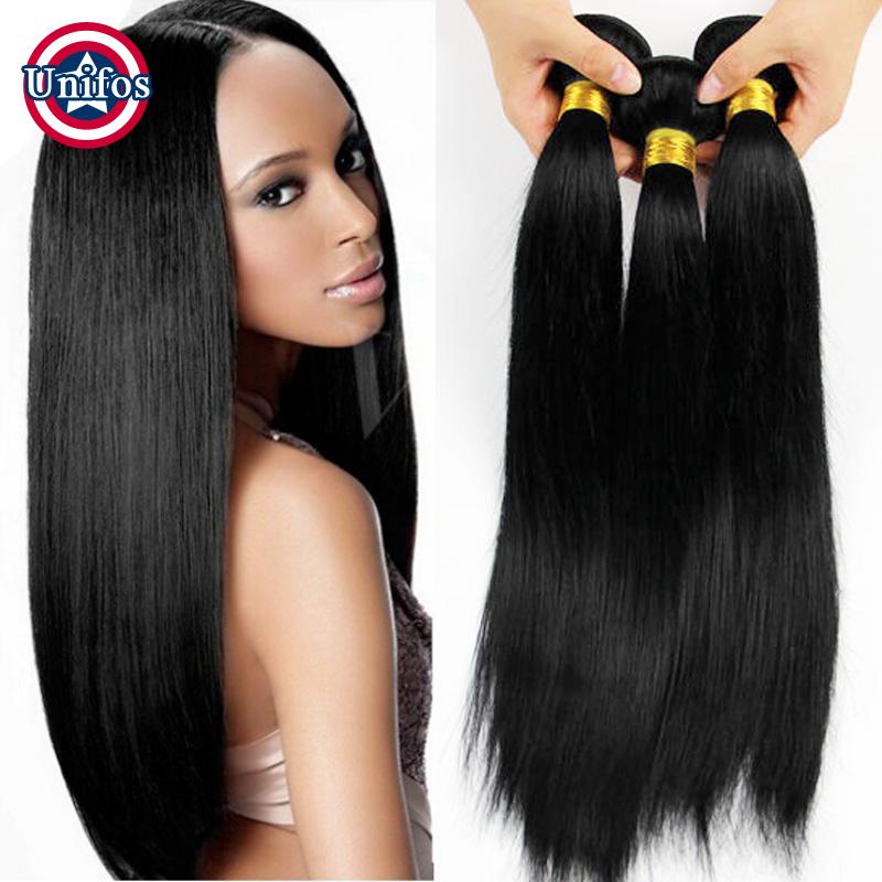 Jet Black Brazilian Straight Hair 3 Bundles 6A Unprocessed Virgin Hair Straight <br><br>Aliexpress