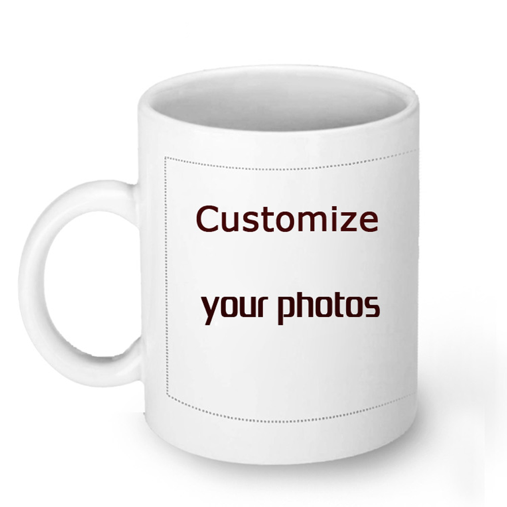 Custom Printed LOGO Photo Coffee Mugs Cup 11oz With Lid Free shipping Practical Gift Personalized DIY Picture White Ceramic Cup(China (Mainland))