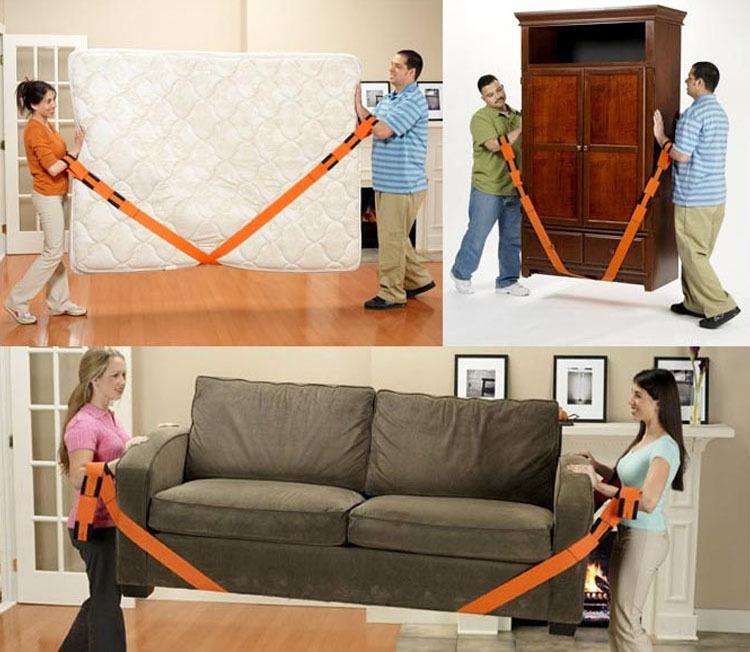 Furniture Moving Straps Orange Carry Lighter Lifting Strap Heavy Duty Nylon Webbing Sling