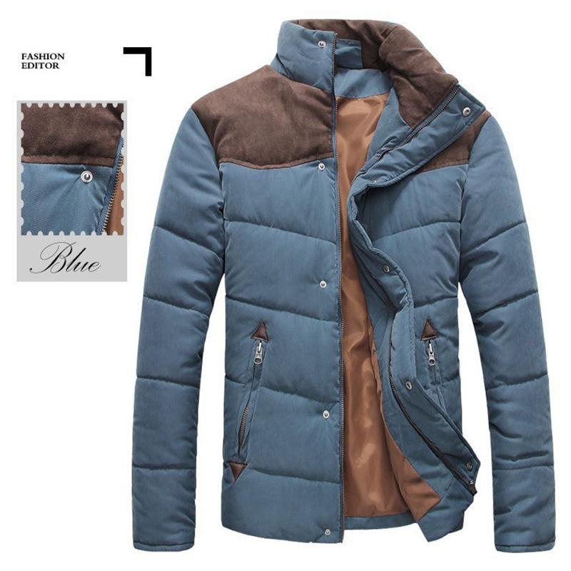 2015 Hotsale Men Winter Splicing Cotton Padded Coat Jacket Winter Plus Size Parka High Quality MWM169