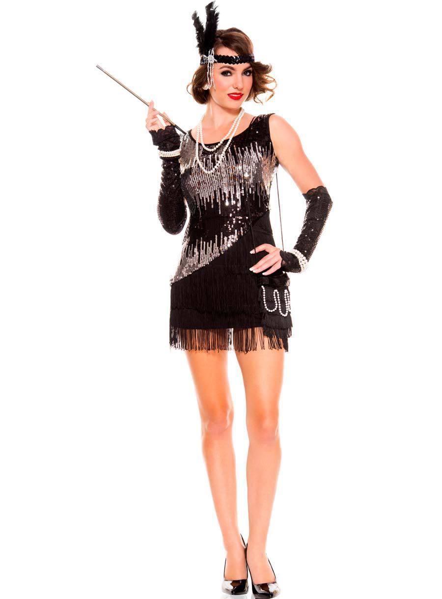 fringe flapper dress 3R1517 Free Shipping Hot Sale Sequin Flapper ...
