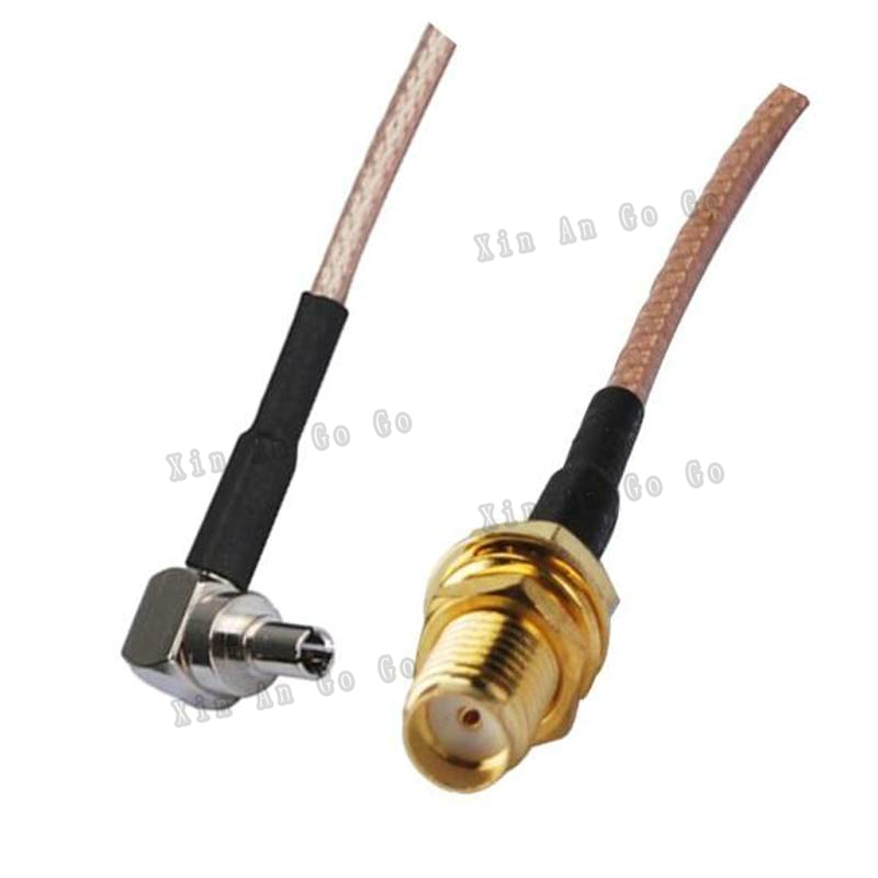 RF Coaxial cable SMA to CRC9 connector SMA female to CRC9 right angle RG316 Pigtail cable 15cm Free shipping <br><br>Aliexpress