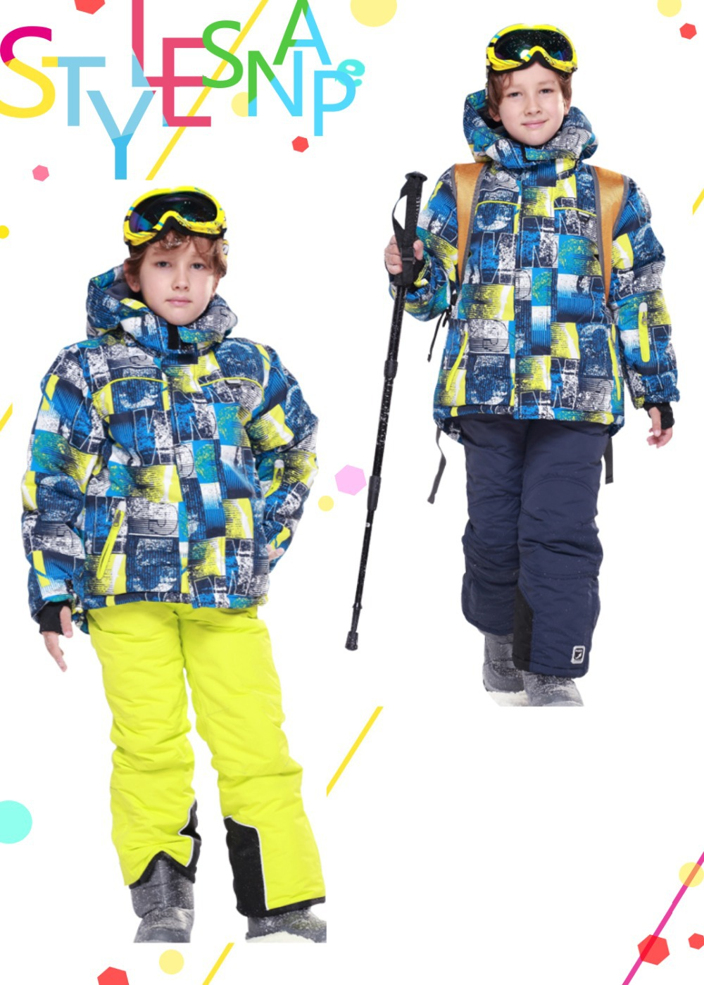 2014 new FREE SHIPPING winter Children's clothing set ski suit snowboard jacket and pants kids padding jacket skiwear 241911(China (Mainland))