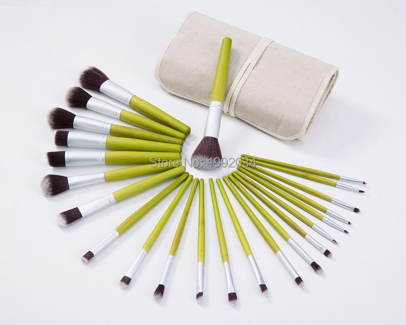 bamboo handle makeup brush set professional makeup tools Amazon ...
