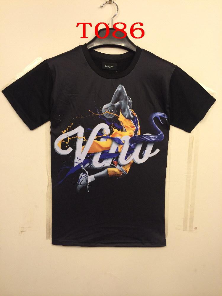 2015 new Mens womens 3D Animal Basketball Star Black Mamba Kobe Bryant print jersey Round Neck Short Sleeve Tops Tees t-shirt - Forever Good luck 's store