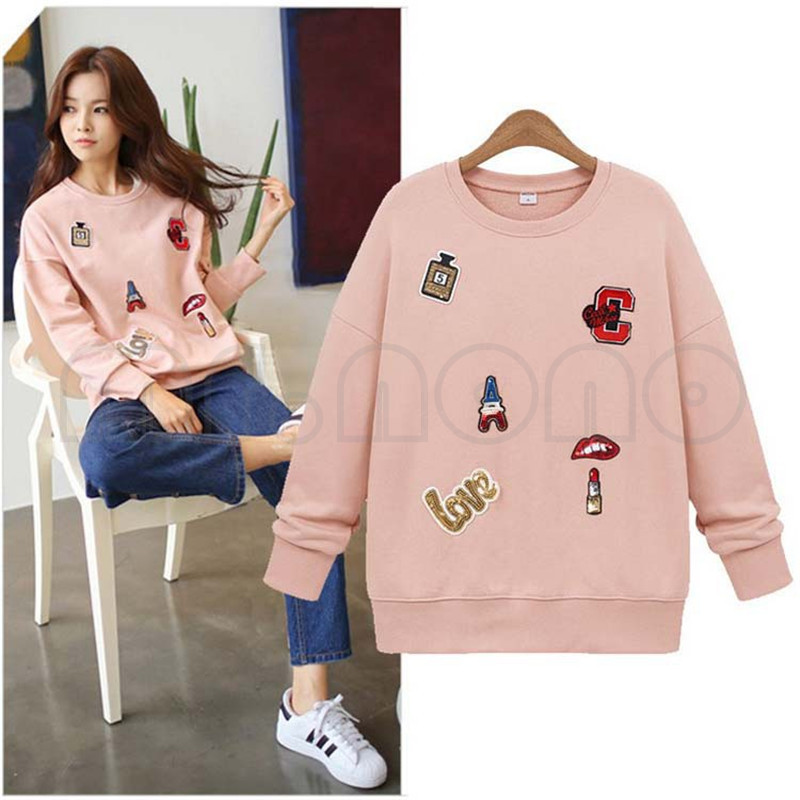 New Spring&amp;Fall Women Long Sleeve O-neck Jacket Loose Warm Sport Hoodies Printed Letters Sweatshirt Plus Size 3 ColorsОдежда и ак�е��уары<br><br><br>Aliexpress