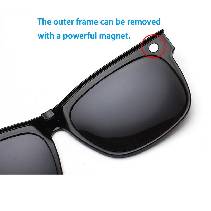 2 in 1 Polarized Clip on Prescription Glasses Sunglasses HD Anti Glare Fit Over Glasses Goggles Wrap over Perscription Sunglass(China (Mainland))