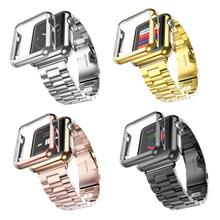 38mm 42mm 3 Punkte Edelstahl Gurt Überzog Schutzhülle Abdeckung Uhrenarmbänder für Apple Uhr iWatch Armband(China (Mainland))