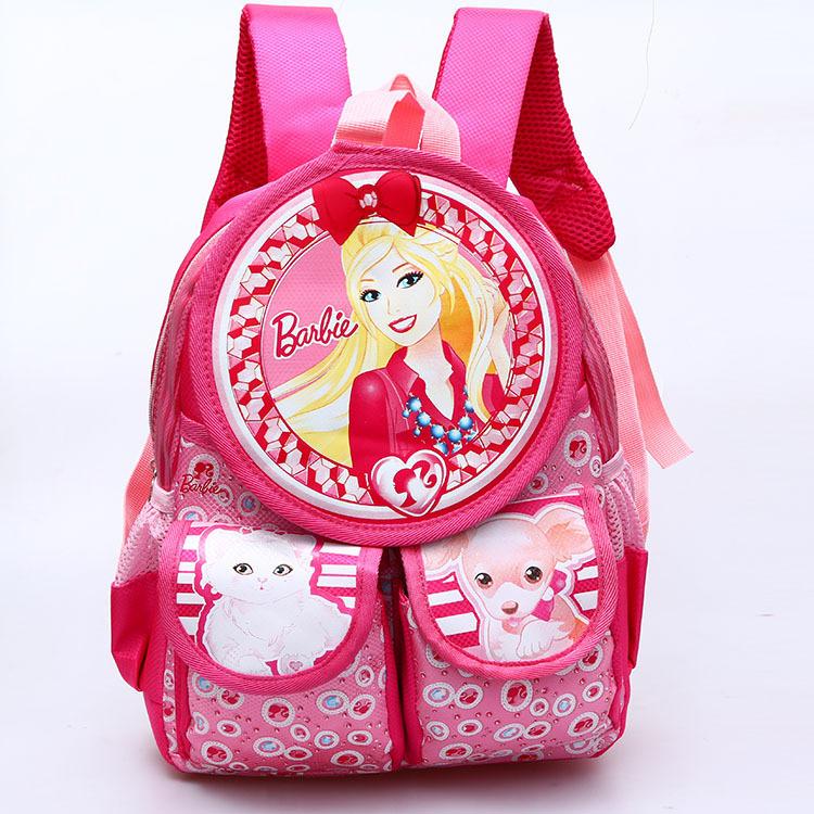 2016 new arrival cartoon Barbie princess school bags for girls Spiderman backpack kids bag children kindergarten bag(China (Mainland))