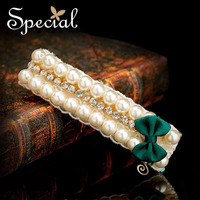 Special New Fashion Summer Style Pearls Hair Accessories Wedding Hair Jewelry Bridal Silk Hair Clip For Women Lover FS141103