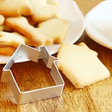 House Shape Kitchen DIY Cookies Cake Mould Cartoon Mousse Ring Baking Mold & Happy Kitchen Time utensilio de cozinha Smile(China (Mainland))