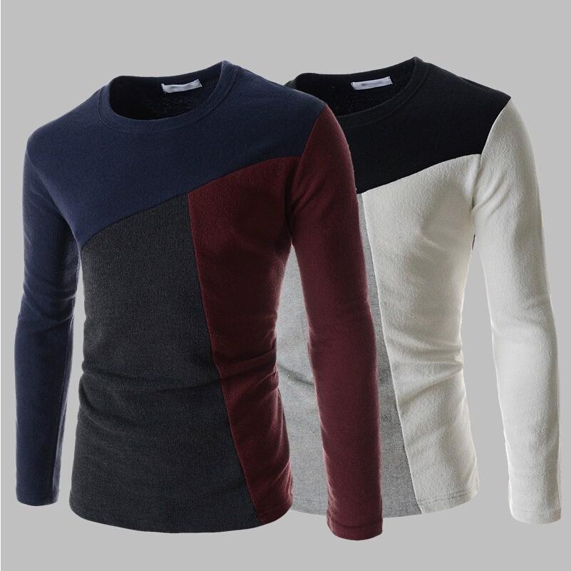 2015 men 39 s fashion leisure cotton round collar color for High end men s dress shirts