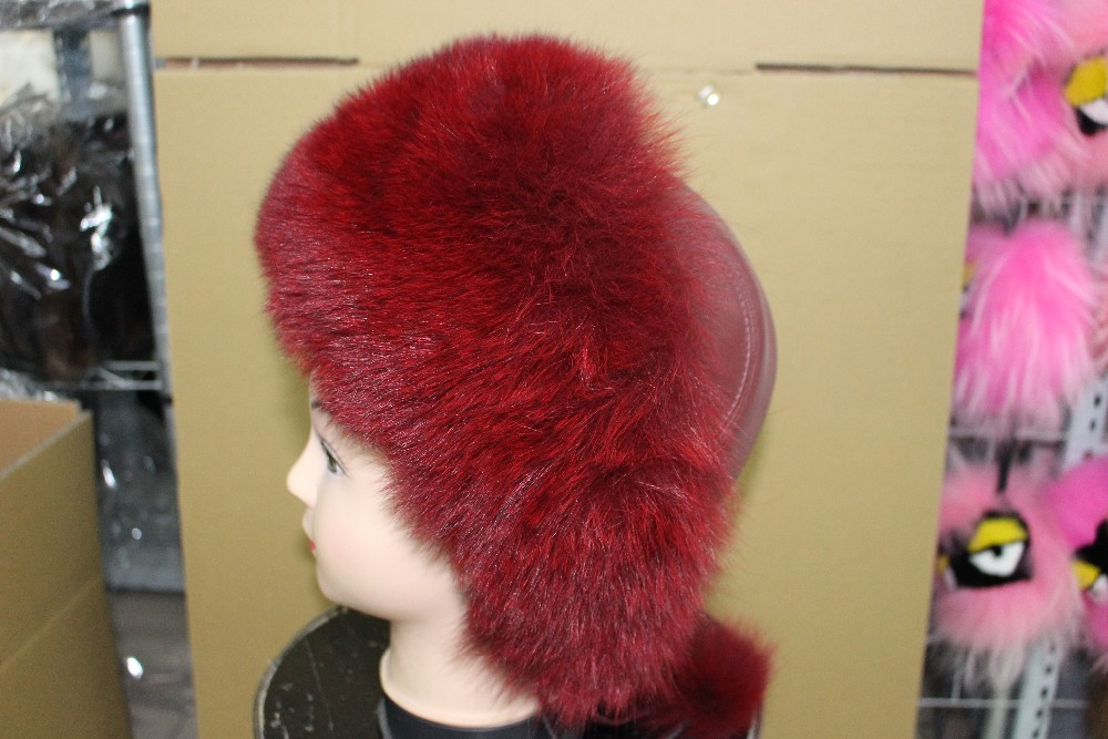 Free shipping fashion fox hat  real fur