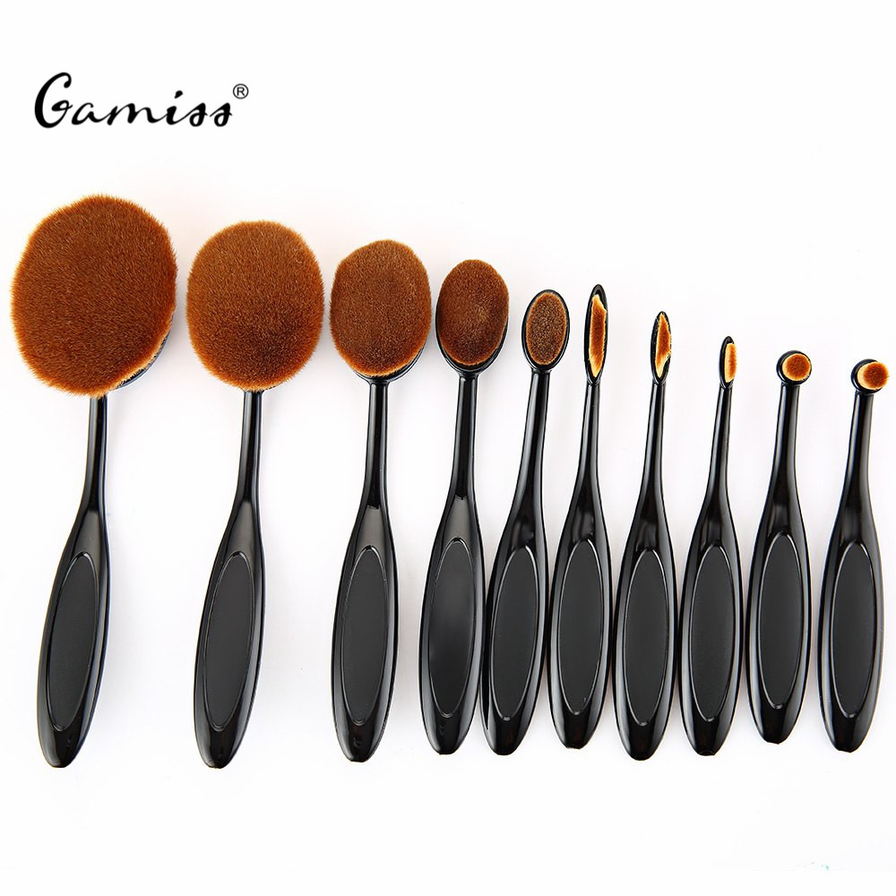 10PC/Set Pro Toothbrush Shaped Eyebrow Foundation Power Face Eyeliner Lip Oval Cream Puff Brushes Sets Makeup Beauty Tools Kits<br><br>Aliexpress