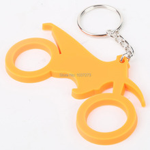 Brand New Motorcycle Cool Rubber Keychain Key Chain Keyring Pendant For KTM Orange(China (Mainland))