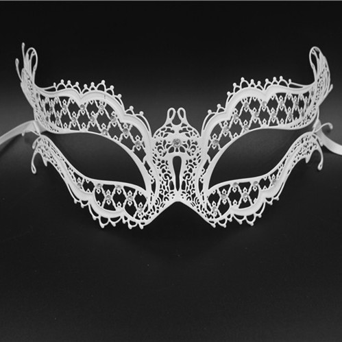 &White&Black&Gold&Sliver Phatom Metal Laser Cut Venetian Halloween Mardi Gras Masquerade Mask With Diamond Mask(China (Mainland))