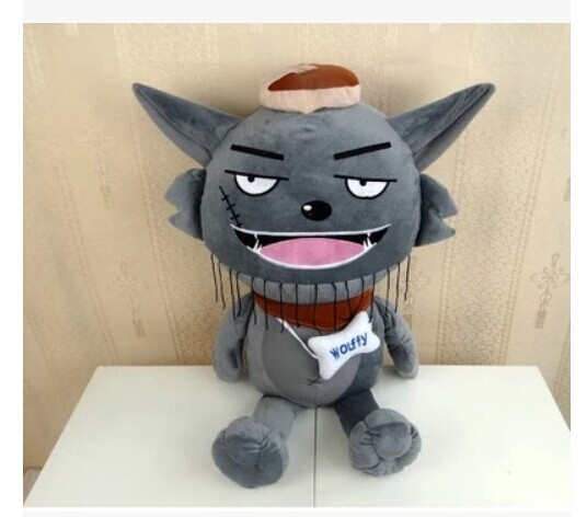 Movie &TV about 55cm Grey Wolf plush toy , kid's gift w3939(China (Mainland))