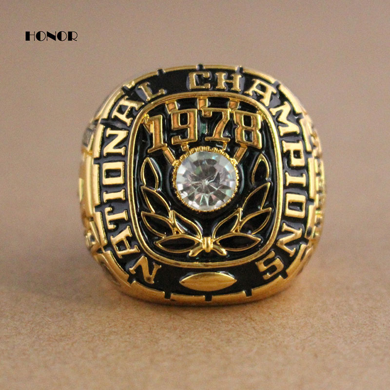 New Sport players zinc alloy jewelry Alabama Crimson Tide 1978 National Replica Championship Rings gold plated Size in 11(China (Mainland))