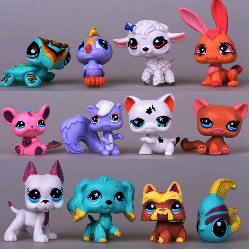 1Pcs littlest pet shop doll action toy figures pvc Kids Children Different Styles Toy Figures For Christmas Gift(China (Mainland))