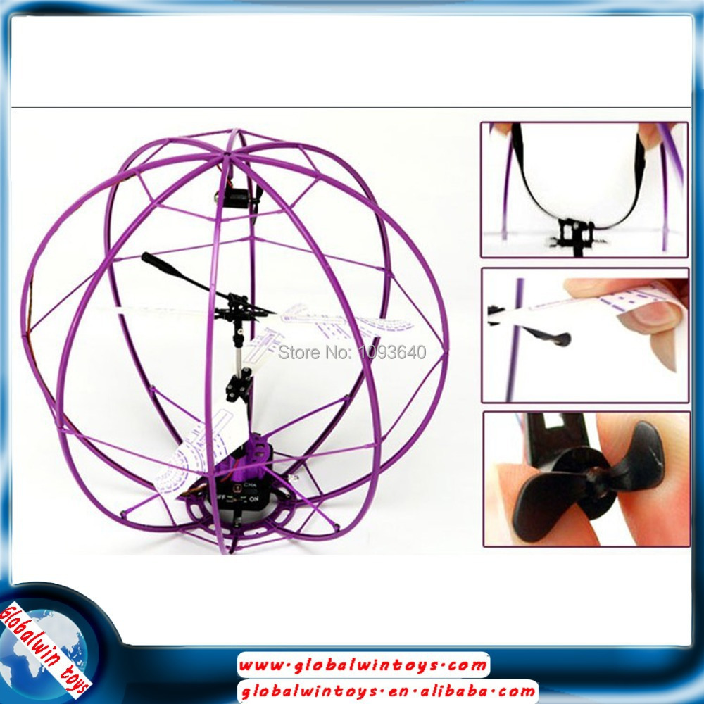 2015 free shipping hot sale ball flying 3ch with gyro renote control Break-resistant ball can flying rc helicopter radio control(China (Mainland))
