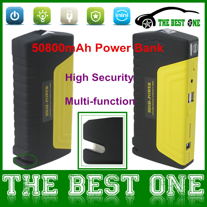 12V Car Battery Charger 50800mAh Power Bank for Cars/Mobile Phones/Laptop etc With More Function Jump Starter 50800mah CNP Free(China (Mainland))