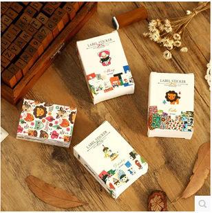 52 Pcs/Lot Cute Pattern Paper Matchbox Sticker Sticky Decoration Decal Diy Album Diary Scrapbooking Post It Creative Stationery(China (Mainland))