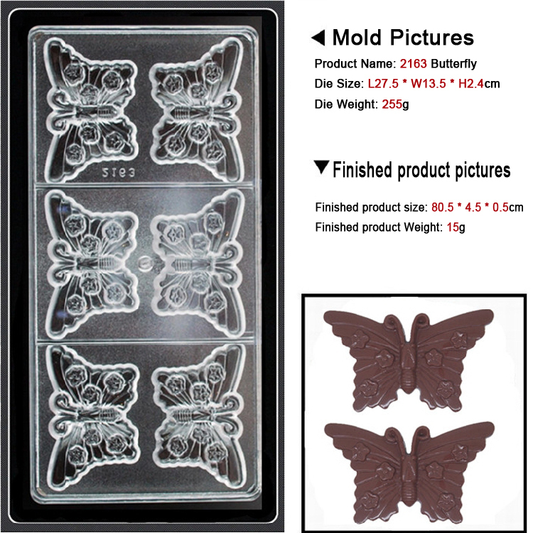 Bakest high quality butterfly shape chocolate mold for sale Transparent shatterproof open flames prohibited#2163(China (Mainland))