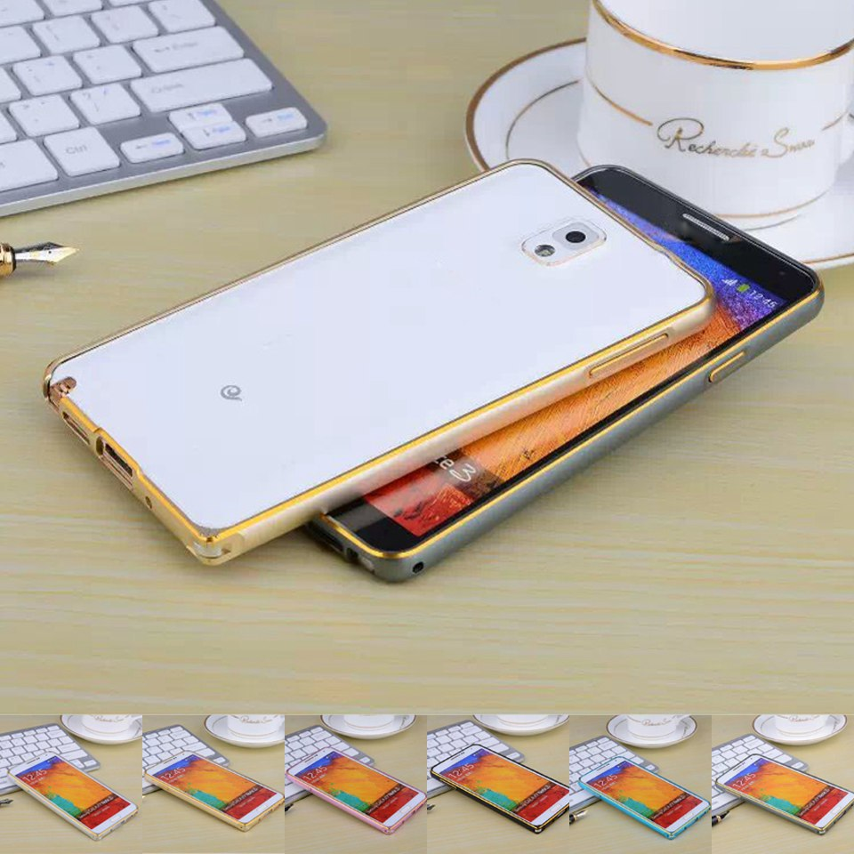 Note 3 N9000 Luxury Dual Color Ultra Thin Aluminum Metal Bumper Frame Buckle Samsung Galaxy Phone Case - Best Accessory store